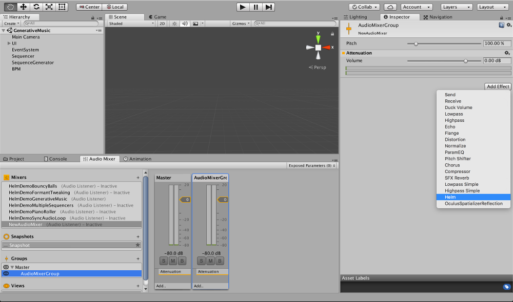 Audio Helm for Unity